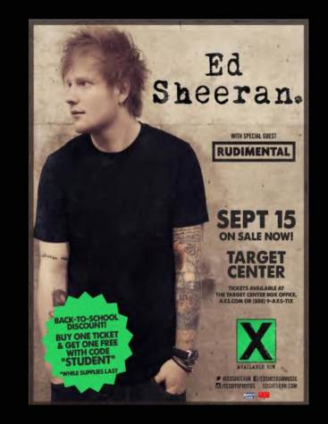 Ed Sheeran to perform at Target Center: offers student discount