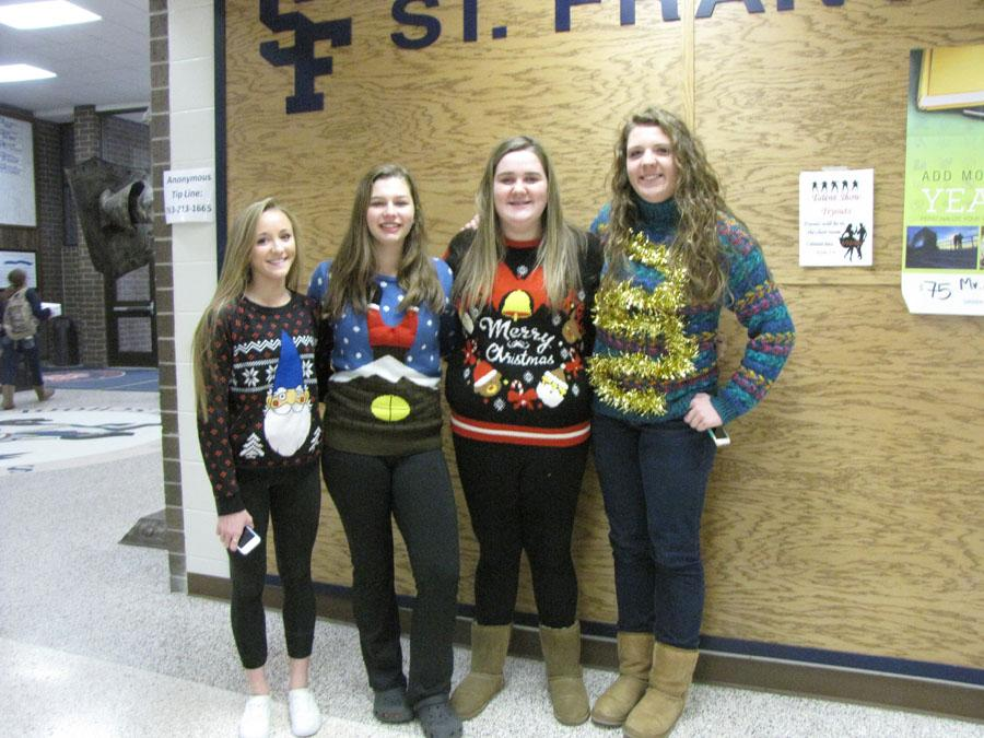 Students small to tall got into the spirit on the last day before winter break.