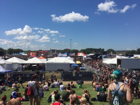 Crowd shot of Warped Tour. It's massive.