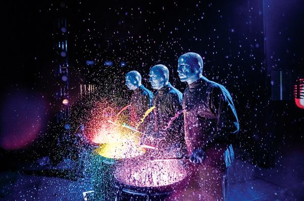 The Blue Man Group performed on December 18 at The Orpheum Theatre in Minneapolis.