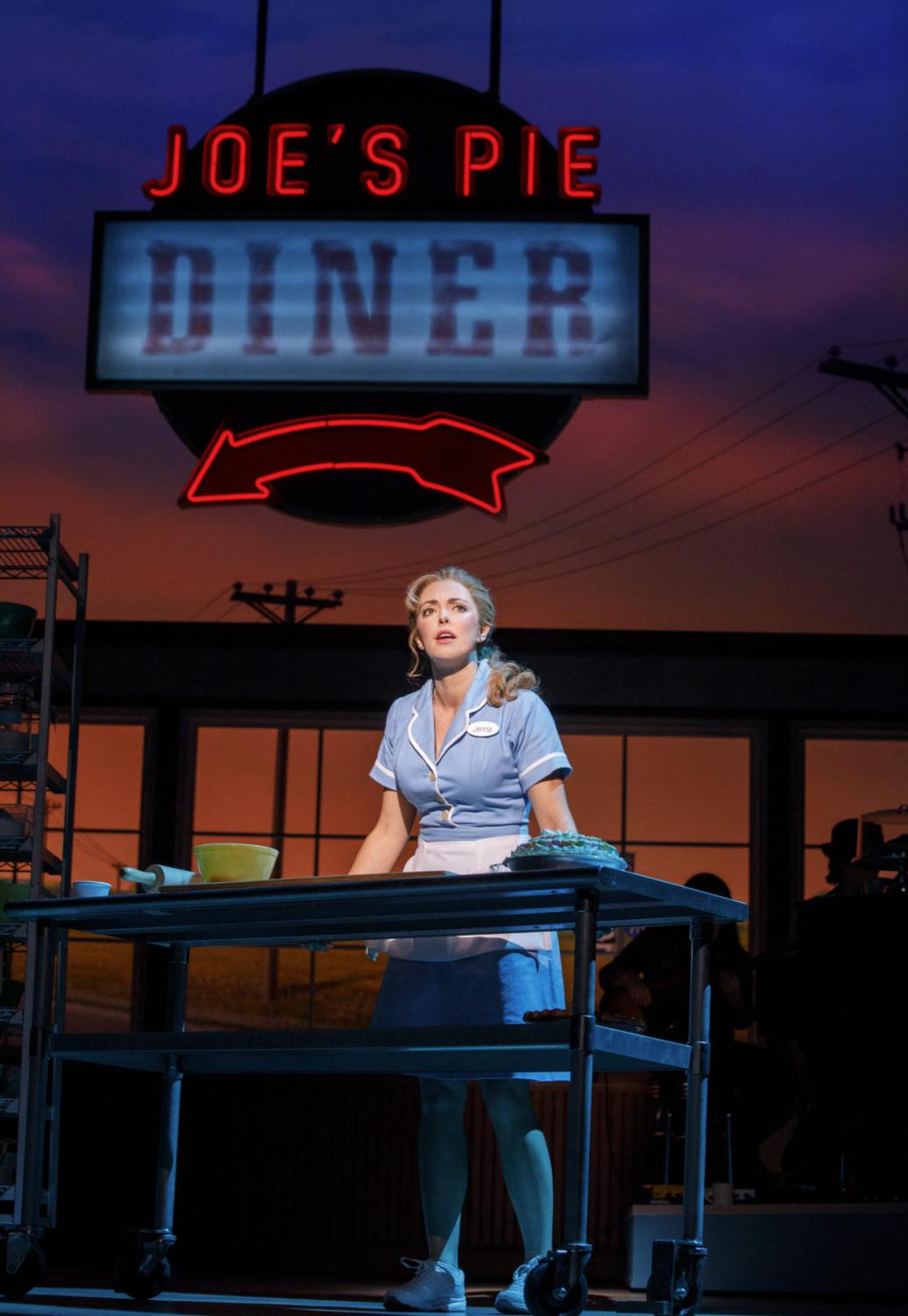 Desi Oakley plays Jenna in the touring production of Waitress presented by Hennepin Theatre Trust in Minneapolis