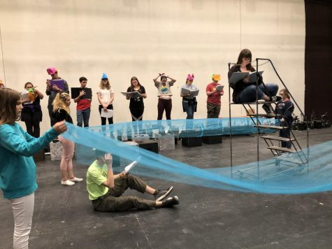 SFHS Theatre rehearses Peter and the Starcatcher