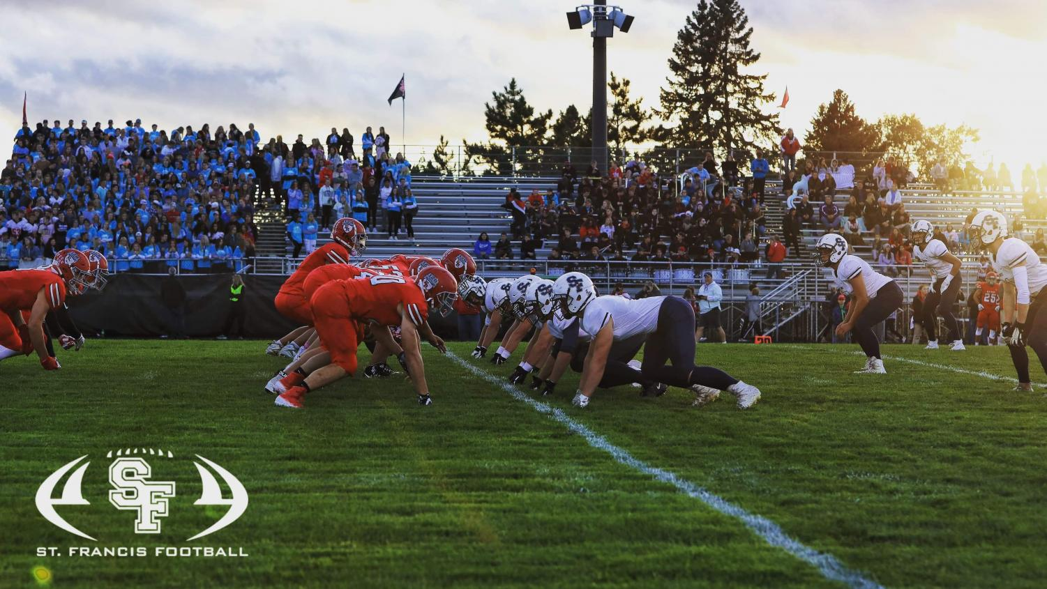 The St. Francis defense verses the Elk River offense Photo by Tony Hoglund