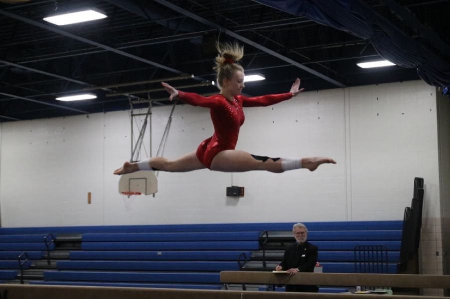 Gymnast Allie Frank looks ahead after making MN State last year.