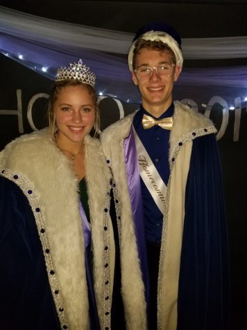 Homecoming Queen Eve Schultz and King Simon Luckow were crowed at Saturday