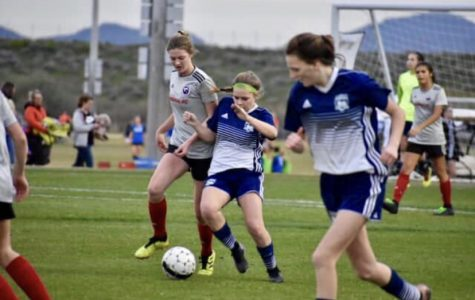 Sydney Olson plays in a soccer tournament in Arizona for her club team.