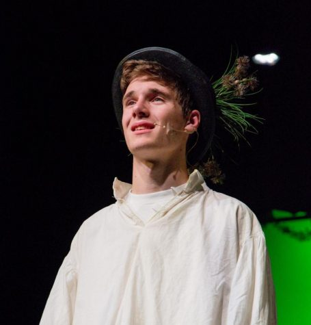 Simon Luckow performs as Peter in the fall production of Peter and the Starcatcher at SFHS Theatre.