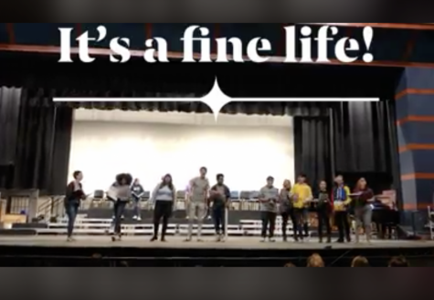 """Actors rehearsed """"Carrying the Banner"""" before Spring Break."""