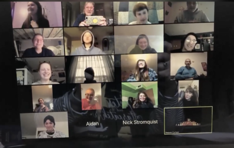 Theatre Students stayed in touch via Zoom during the school closure in spring due to Covid-19.