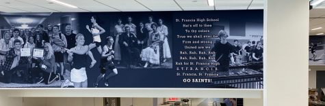 A new banner wraps around the entire commons, picturing events from the past and the present