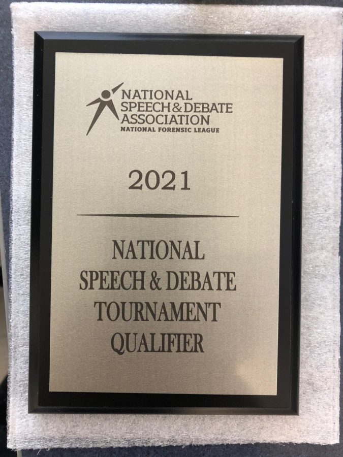 Senior Mercedes Hamilton qualified for the National Debate Tournament this January.